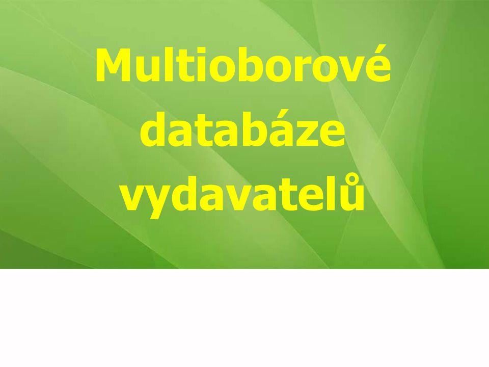 Multioborové databáze vydavatelů