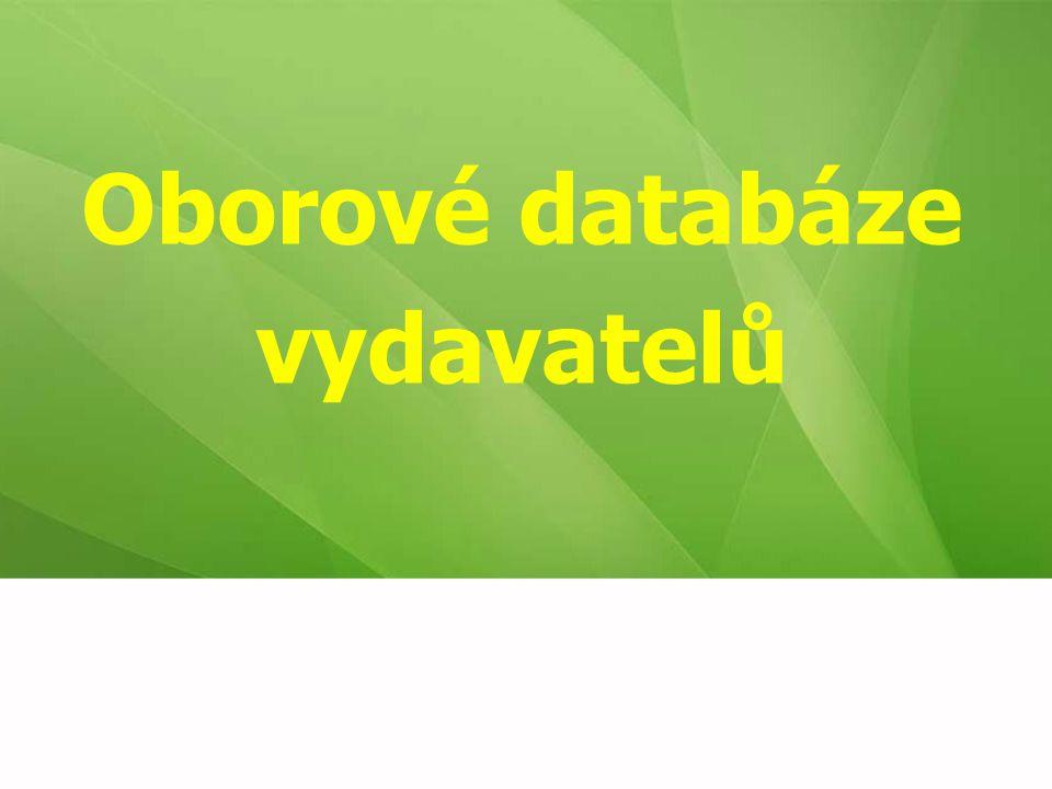 Oborové databáze vydavatelů