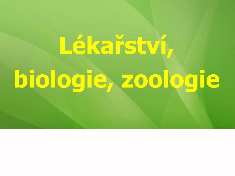 Lékařství, biologie, zoologie