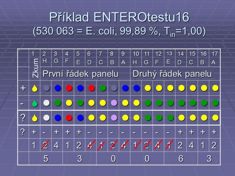 Příklad ENTEROtestu16 (530 063 = E.
