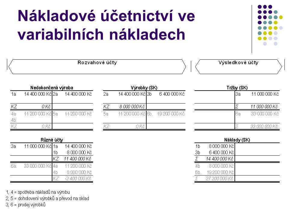 Nákladové účetnictví ve variabilních nákladech