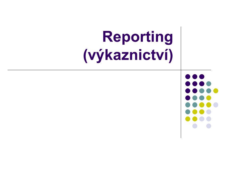 Reporting (výkaznictví)