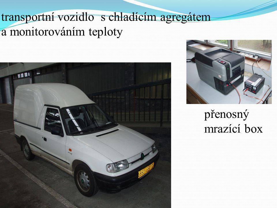přenosný mrazící box transportní vozidlo s chladícím agregátem a monitorováním teploty