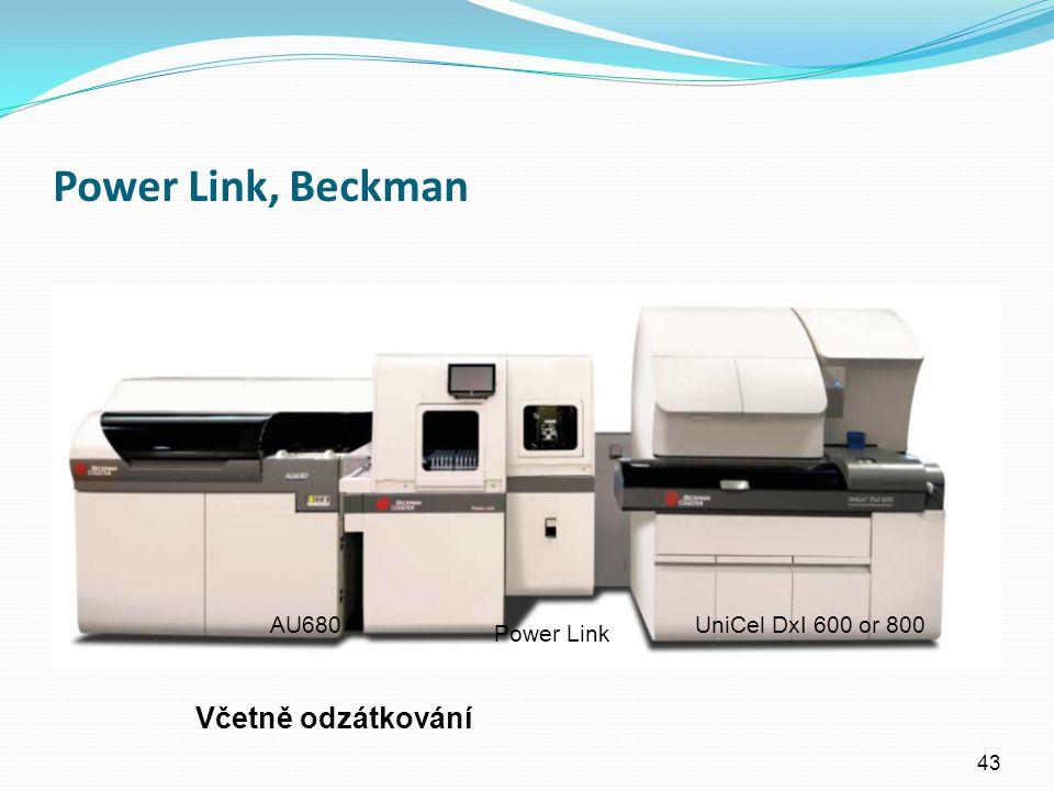 Power Link, Beckman 43 AU680 Power Link UniCel DxI 600 or 800 Včetně odzátkování