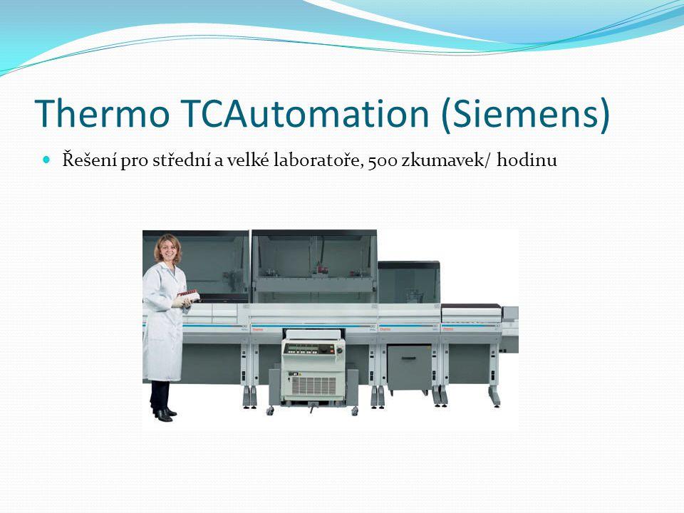 Thermo TCAutomation (Siemens) Řešení pro střední a velké laboratoře, 500 zkumavek/ hodinu
