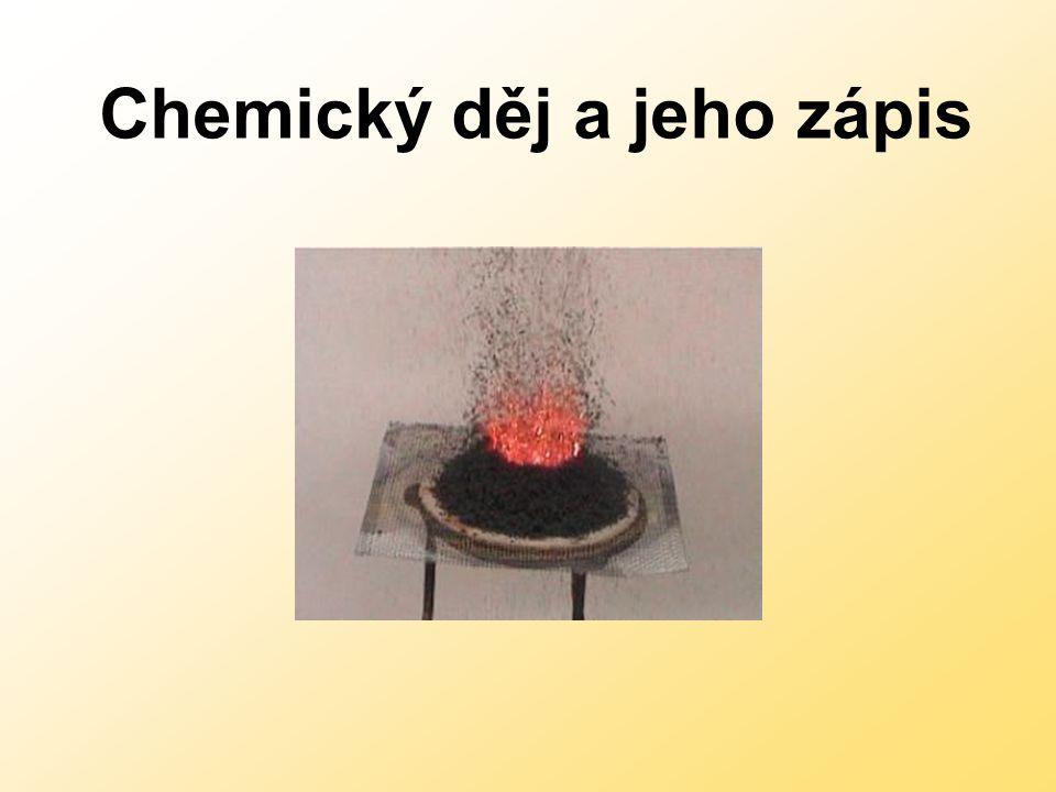 Chemický děj a jeho zápis