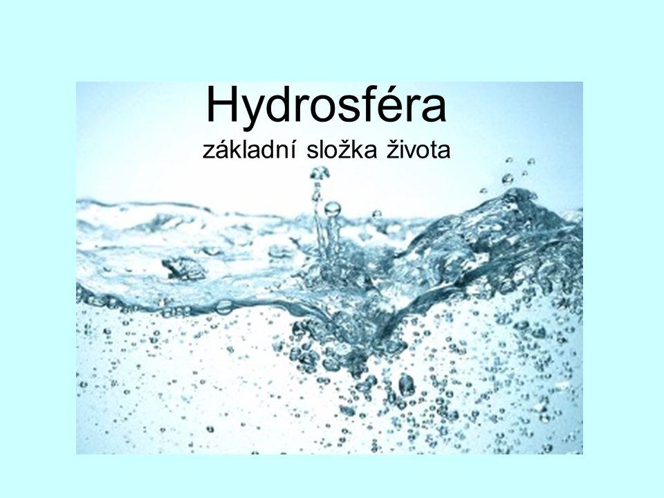 Hydrosféra základní složka života
