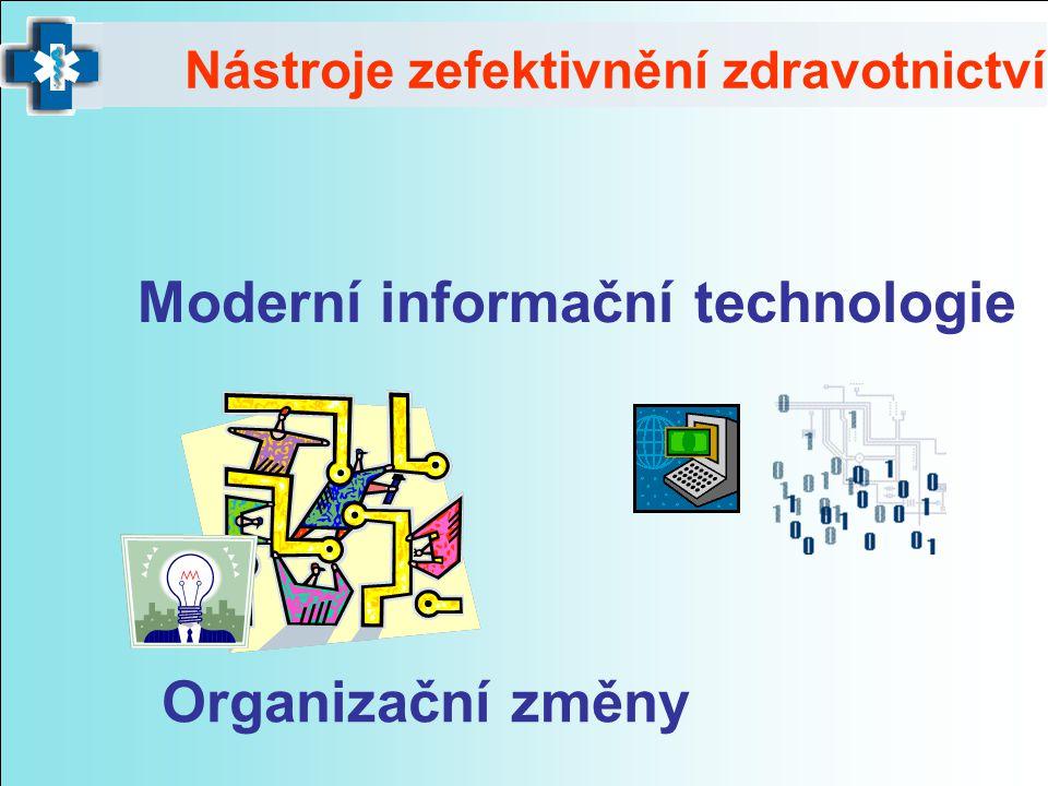 Nástroje zefektivnění zdravotnictví Moderní informační technologie Organizační změny