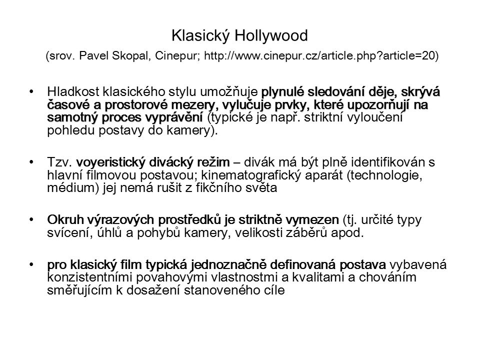 Klasický Hollywood (srov.