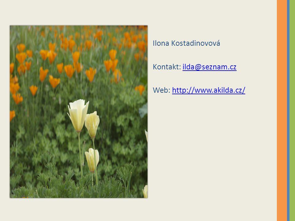 Ilona Kostadinovová Kontakt: ilda@seznam.czilda@seznam.cz Web: http://www.akilda.cz/http://www.akilda.cz/