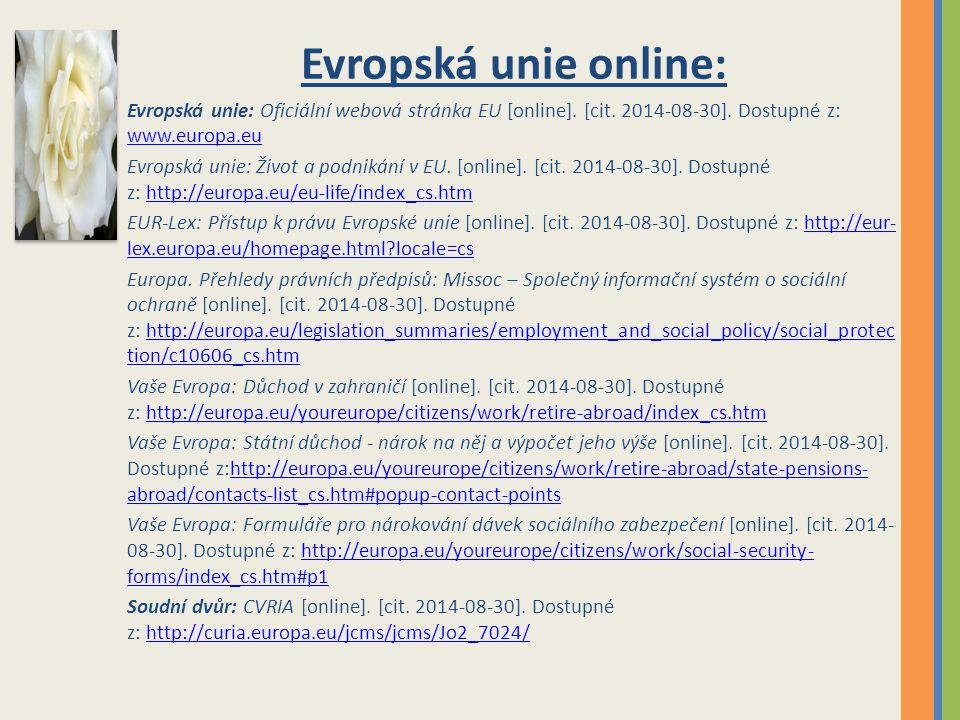 Evropská unie online: Evropská unie: Oficiální webová stránka EU [online].