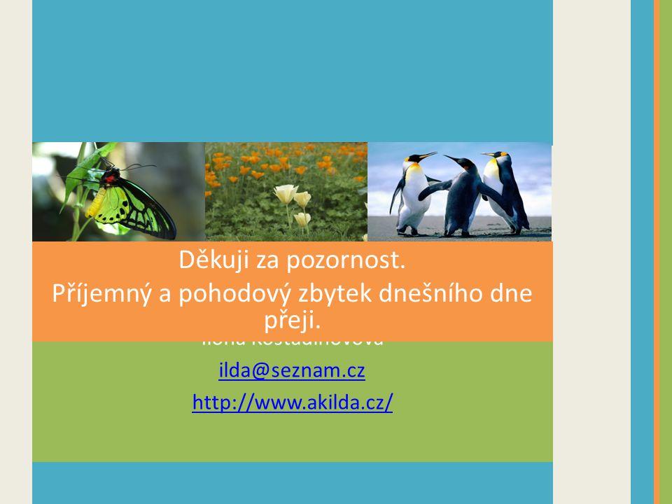 Ilona Kostadinovová ilda@seznam.cz http://www.akilda.cz/ Děkuji za pozornost.