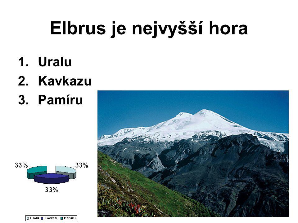 Elbrus je nejvyšší hora 1.Uralu 2.Kavkazu 3.Pamíru