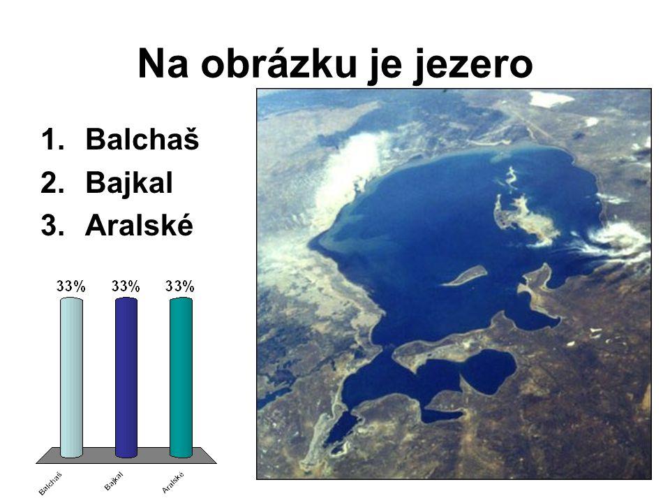 Na obrázku je jezero 1.Balchaš 2.Bajkal 3.Aralské