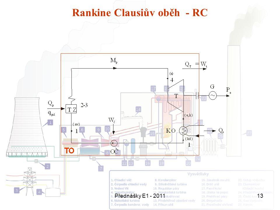 Přednášky E1 - 201113 Rankine Clausiův oběh - RC