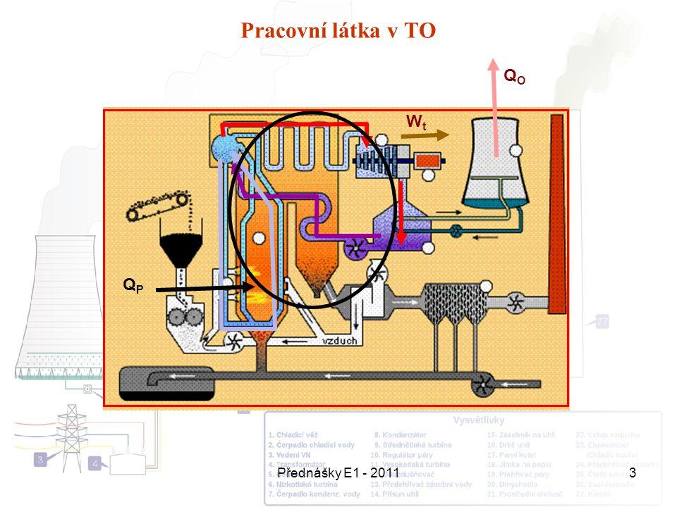 Přednášky E1 - 20113 Pracovní látka v TO QPQP QOQO WtWt