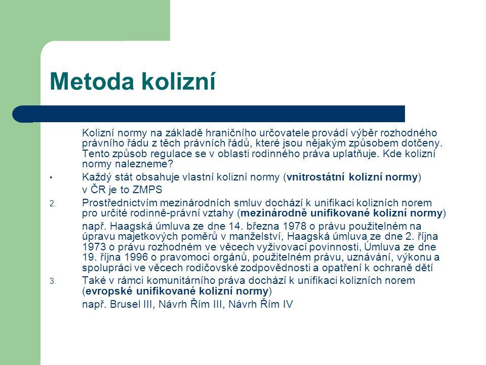 Výživné rozhodné právo – vnitrostátní právo, Haagské úmluvy ze dne 24.
