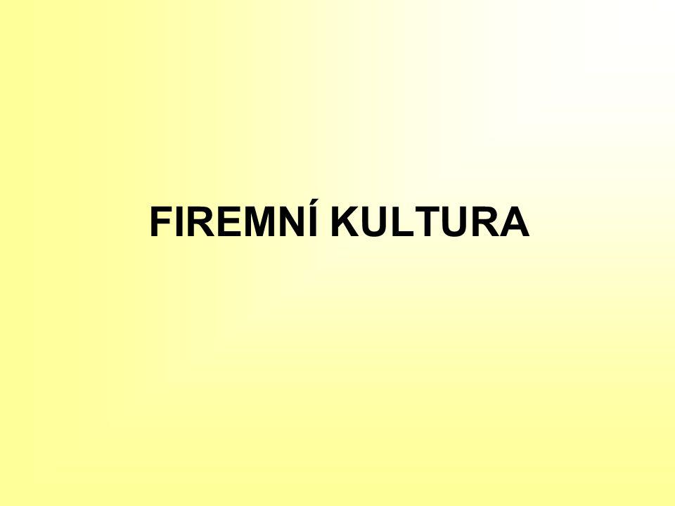 FIREMNÍ KULTURA