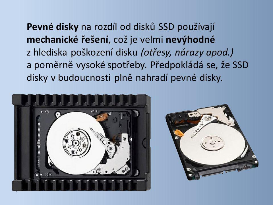 Pevné disky na rozdíl od disků SSD používají mechanické řešení, což je velmi nevýhodné z hlediska poškození disku (otřesy, nárazy apod.) a poměrně vysoké spotřeby.