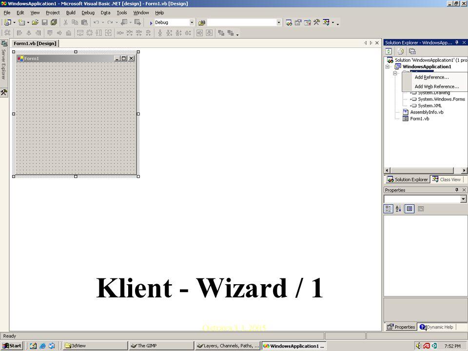 Ostrava 3.1.20054 Klient - Wizard / 1