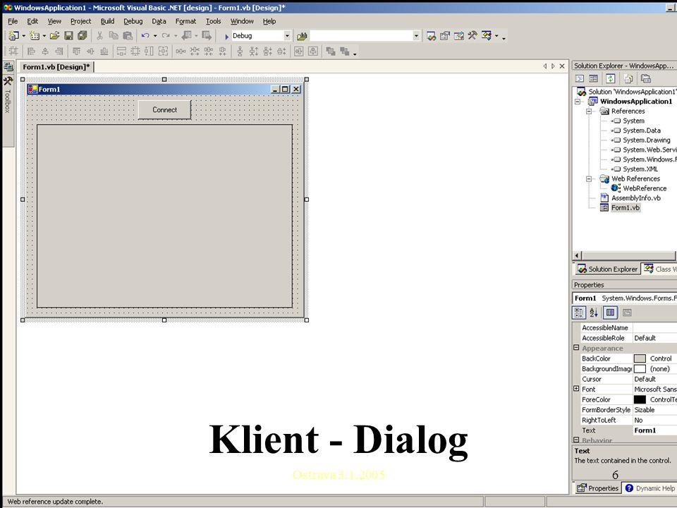 Ostrava 3.1.20056 Klient - Dialog