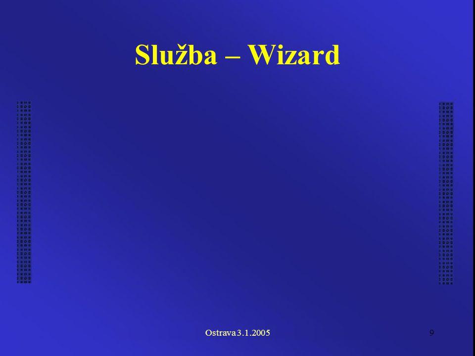 Ostrava 3.1.20059 Služba – Wizard