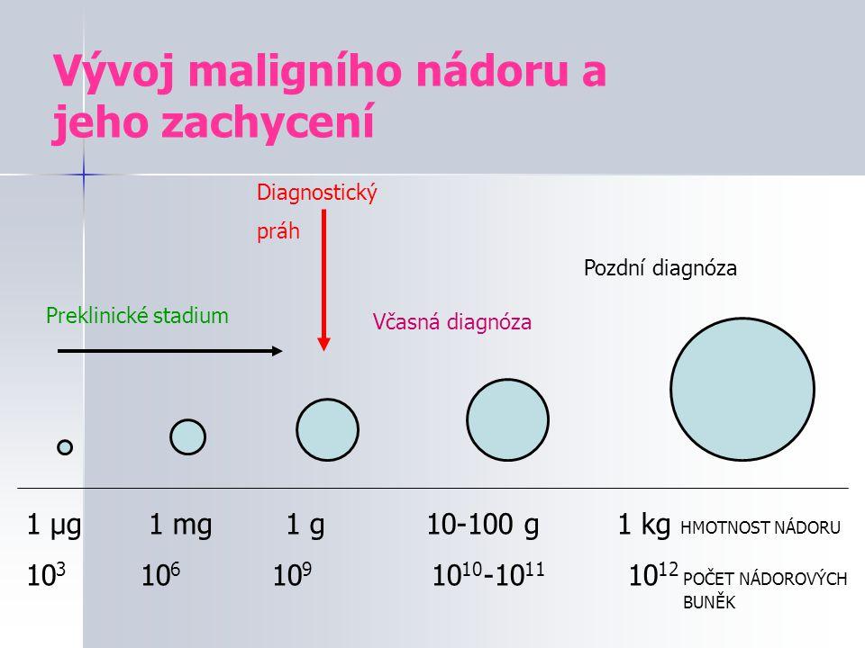 Rozdělení nádorů  Benigní (nezhoubné)  Maligní (zhoubné) - karcinomy (epiteliální nádory) - sarkomy (mesenchymální původ) - hematologické nádory - metastázy (druhotné ložisko maligního nádoru)