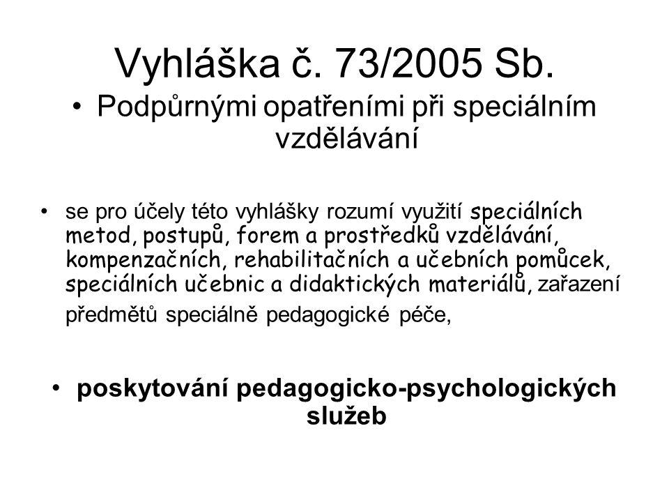 Příklady Soubor pedagogicko-organizačních informací pro školy na školní rok 2006/2007, č.j. 2562/2006-20. Vzdělávání dětí a žáků se speciálními vzdělá