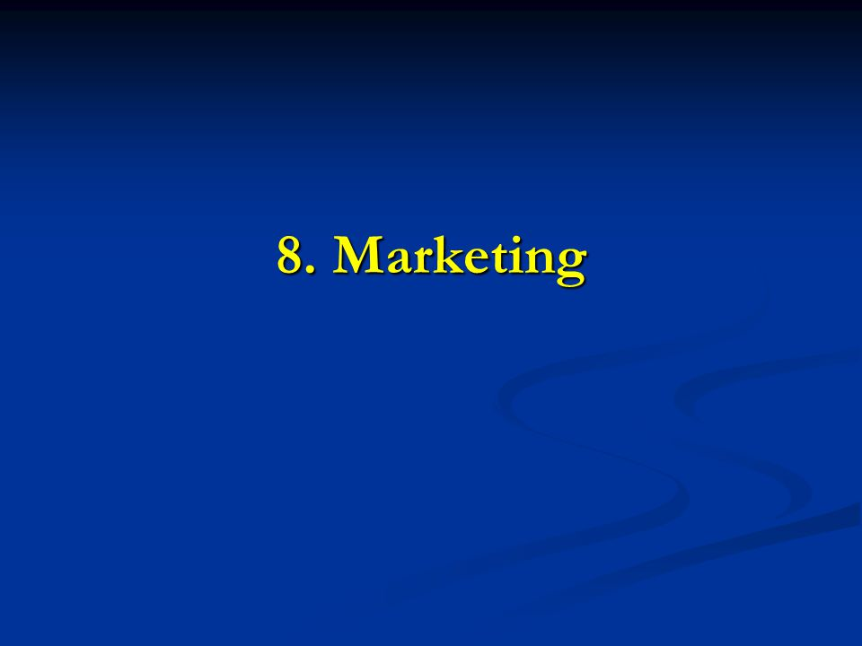 8. Marketing