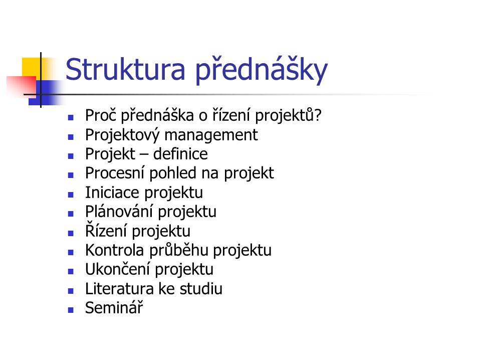 Plánování času definuje v jakých termínech a časových sledech budou práce na projektu probíhat.