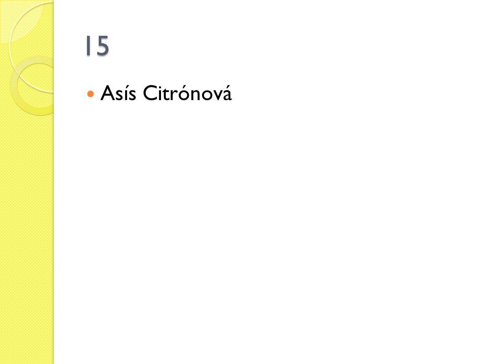 15 Asís Citrónová