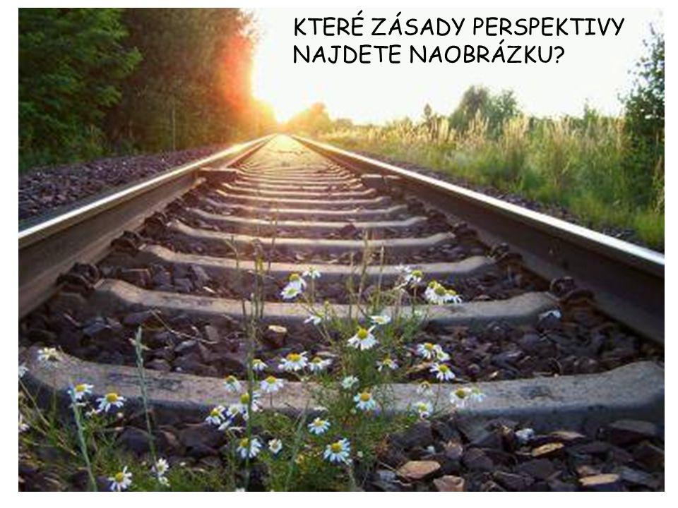 DRUHY PERSPEKTIVY BIFOKÁLNÍ perspektiva (2 sbíhání- vpravo, vlevo) VOJENSKÁ perspektiva (znázornění měst, bitevních situací) OBRÁCENÁ perspektiva (úběžník leží před plochou obrazu) PTAČÍ perspektiva (pohled z výšky, z nadhledu) ŽABÍ perspektiva (z extrémního podhledu) VÝTVARNÁ (atmosférická) perspektiva (barevné odstíny způsobené různou vzdáleností od pozorovatele) Chrám sv.Víta z nadhledu a z podhledu