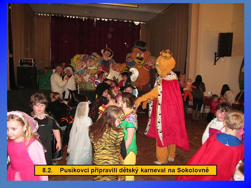 8.2. Pusíkovci připravili dětský karneval na Sokolovně