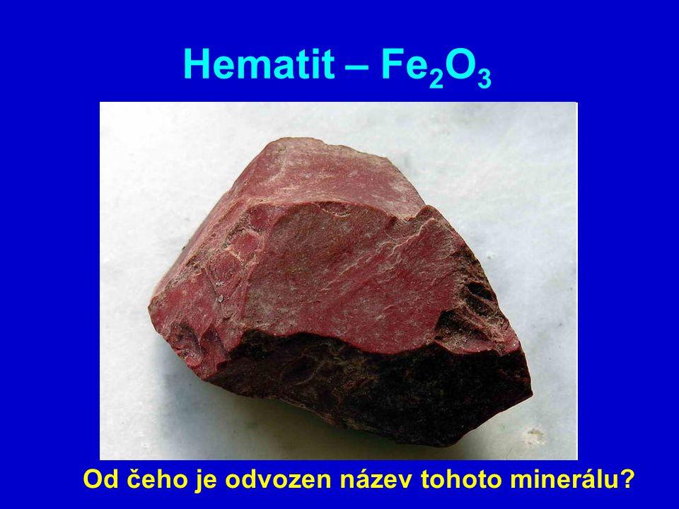 Hematit – Fe 2 O 3 Od čeho je odvozen název tohoto minerálu?