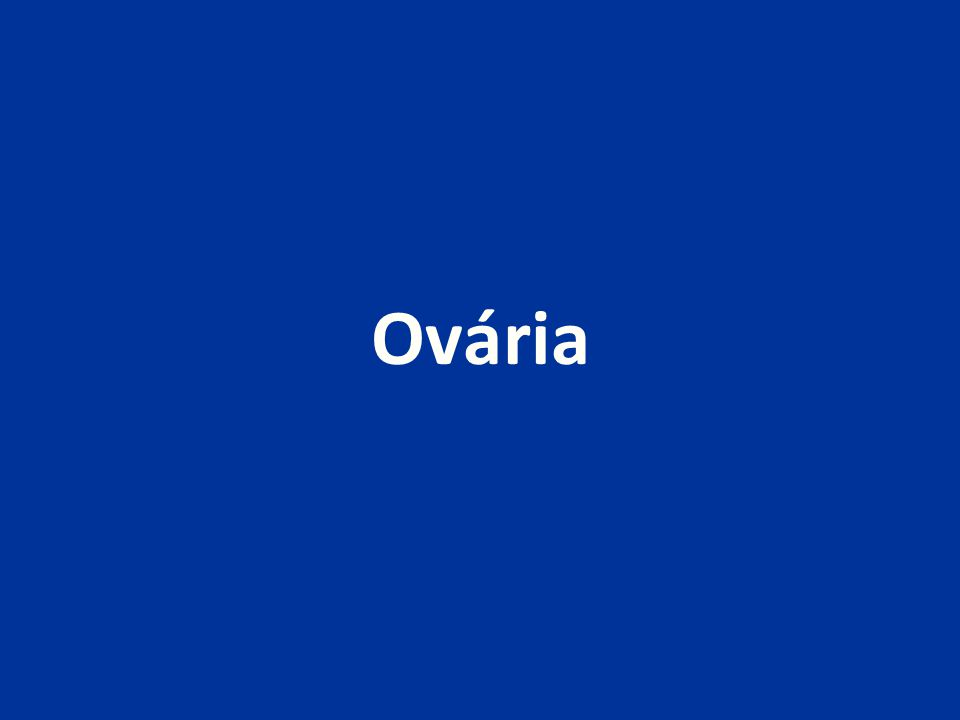 Nádory germinální heterogenní skupina nádorů vznikajících z germinálních buněk asi 30% primárních ovariálních nádorů (z toho 95% zralé cystické teratomy) asi 3% maligních ovariálních nádorů (Evropa, USA; Japonsko - až 20%) nejčastější maligní ovariální nádory u dětí a adolescentů (pod 21 let asi 60% ovariálních nádorů)