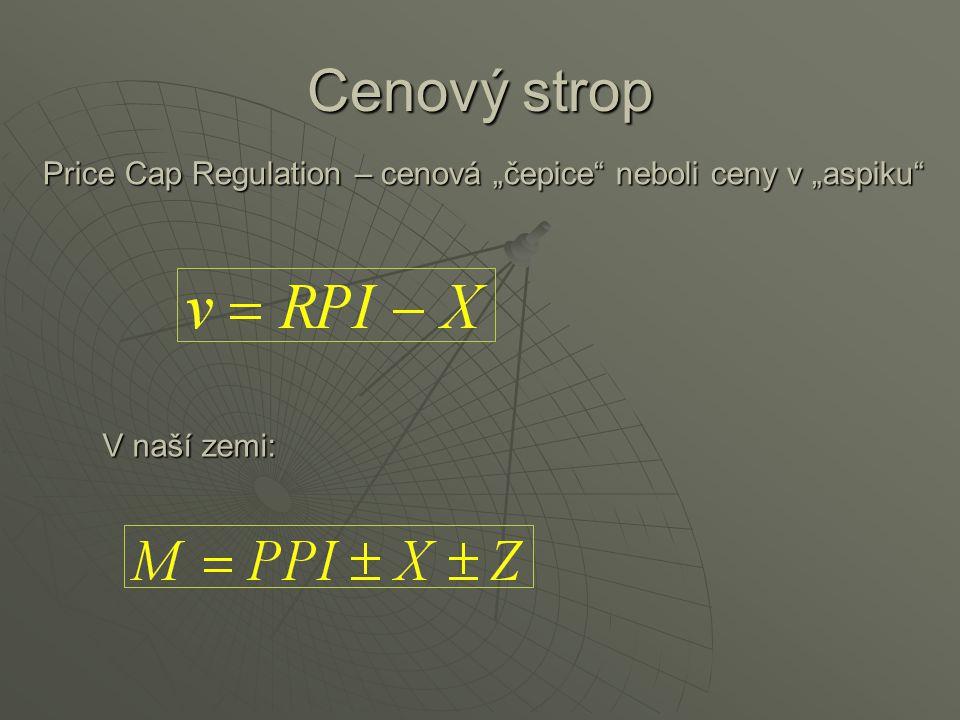 """Cenový strop Price Cap Regulation – cenová """"čepice"""" neboli ceny v """"aspiku"""" V naší zemi:"""