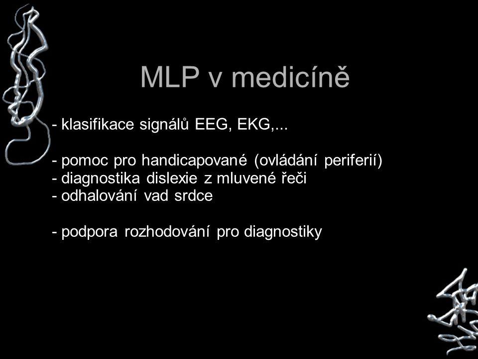 MLP v medicíně - klasifikace signálů EEG, EKG,...