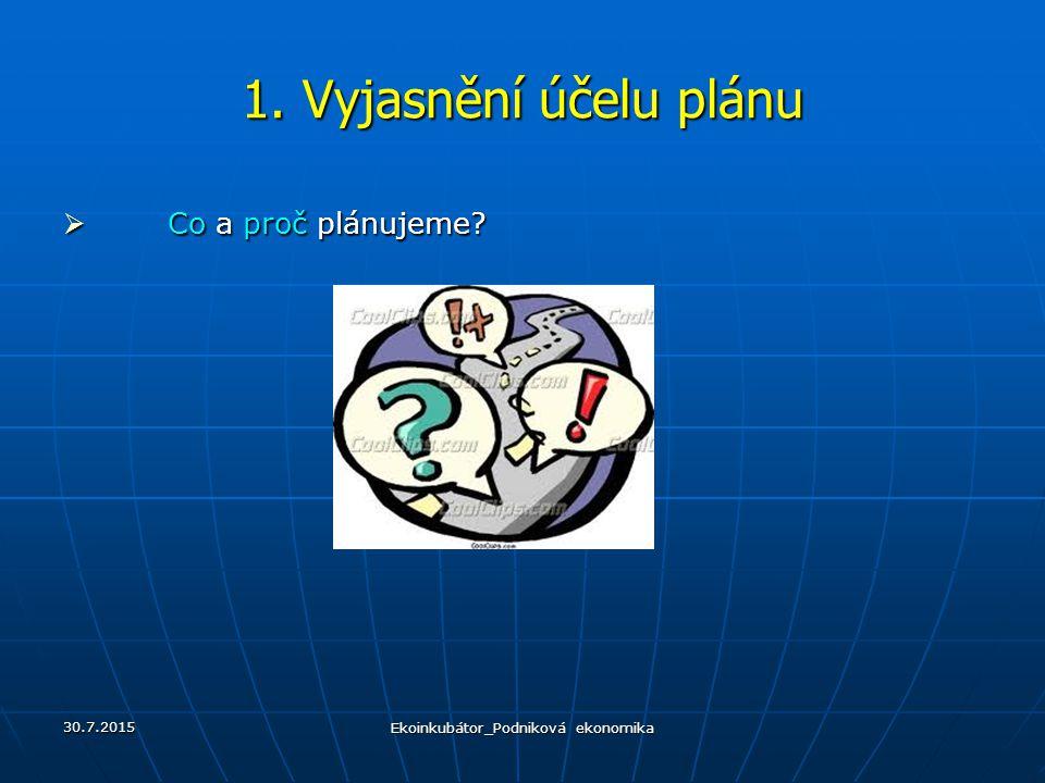 30.7.2015 Plánování v organizaci 8.Stanovení strategie 5.