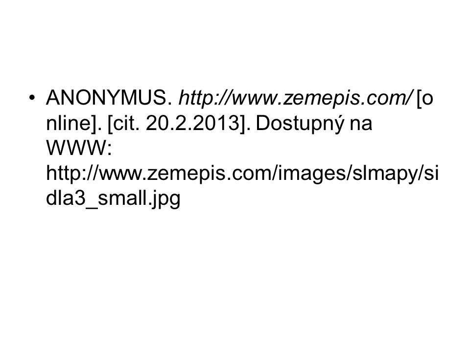 ANONYMUS.http://www.zemepis.com/ [o nline]. [cit.