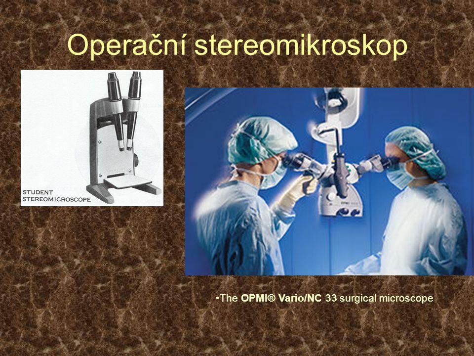 Operační stereomikroskop The OPMI® Vario/NC 33 surgical microscope