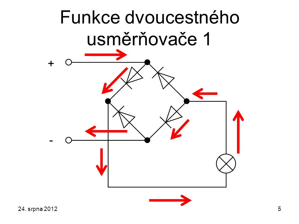 Funkce dvoucestného usměrňovače 1 24. srpna 20125 + -