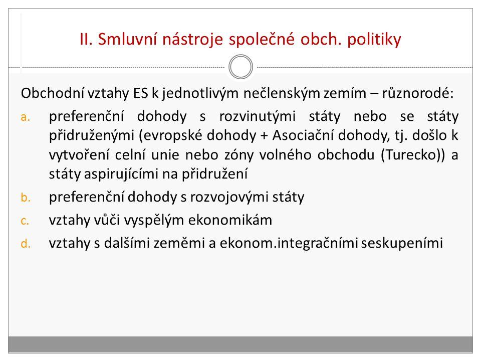 II. Smluvní nástroje společné obch.