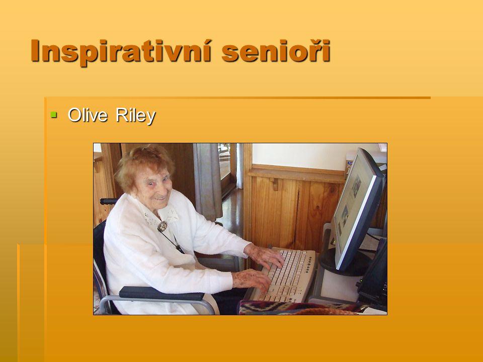 Inspirativní senioři  Olive Riley