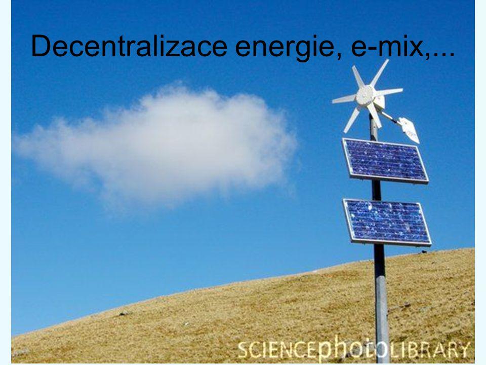 Decentralizace energie, e-mix,...