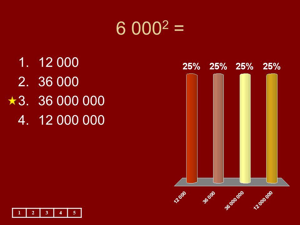 6 000 2 = 12345 1.12 000 2.36 000 3.36 000 000 4.12 000 000