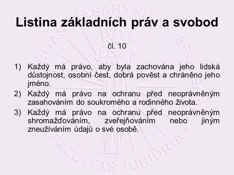 Listina základních práv a svobod čl.