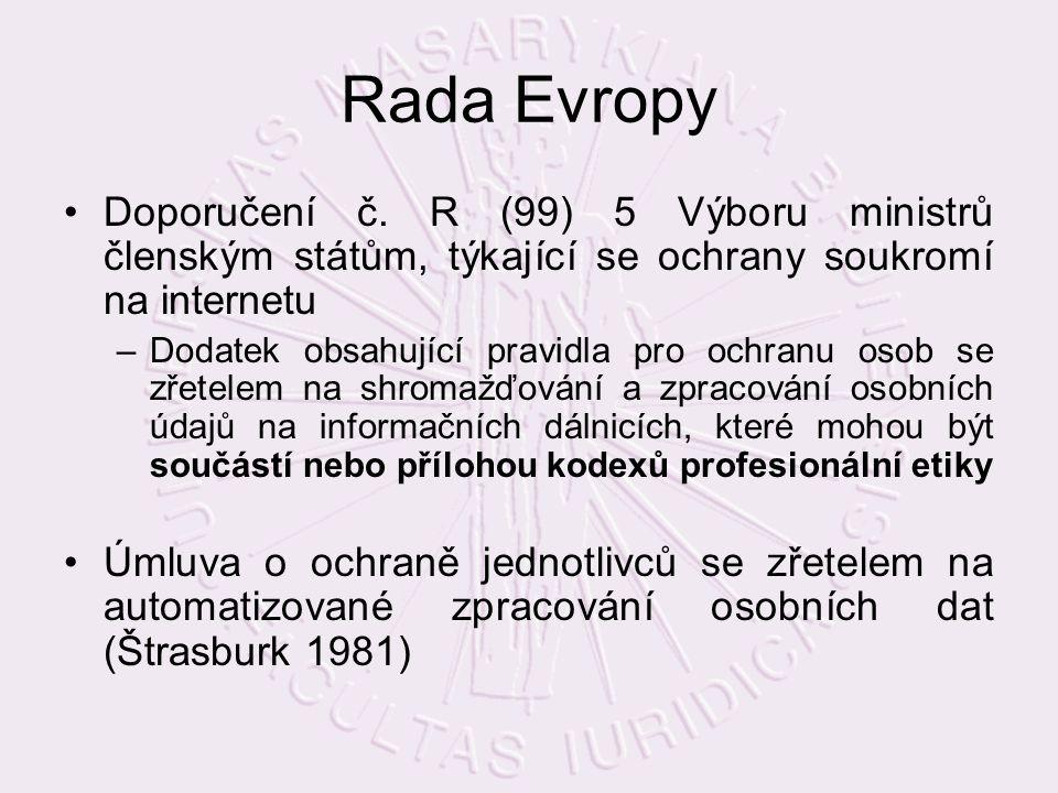 Rada Evropy Doporučení č.