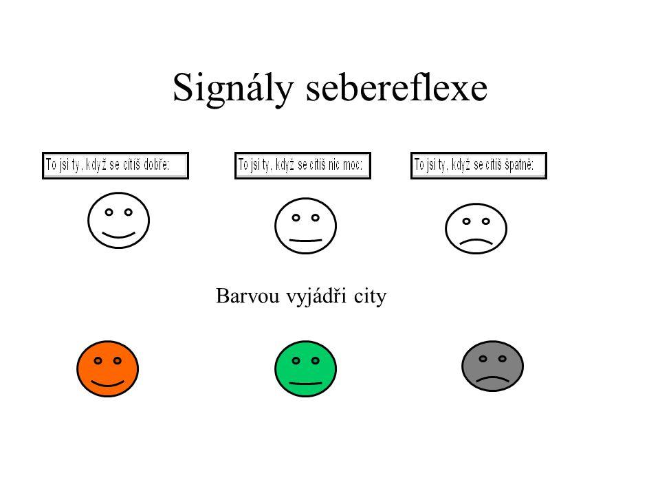 Signály sebereflexe Barvou vyjádři city
