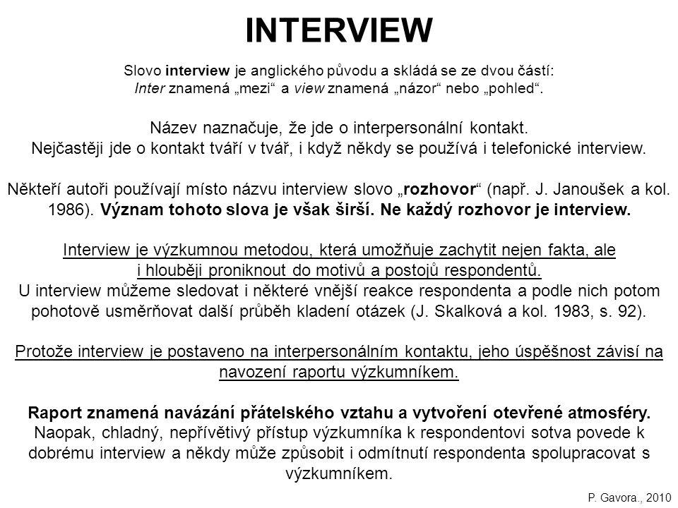 """153 INTERVIEW Slovo interview je anglického původu a skládá se ze dvou částí: Inter znamená """"mezi a view znamená """"názor nebo """"pohled ."""