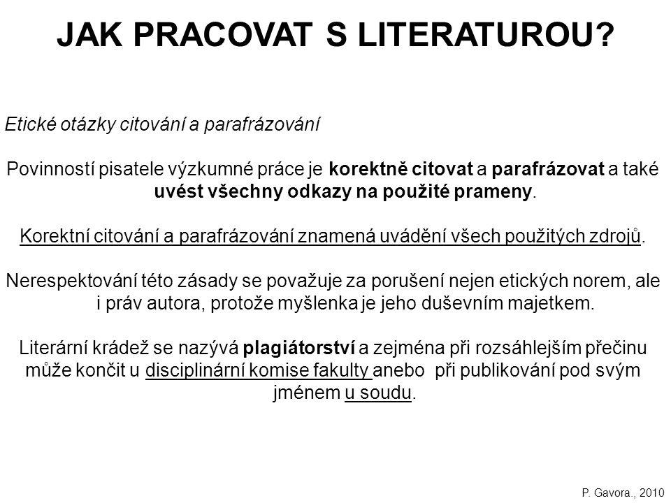 23 JAK PRACOVAT S LITERATUROU.